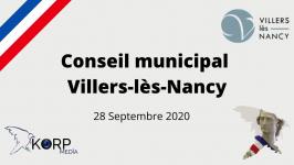Conseil Municipal du lundi 28 septembre 2020
