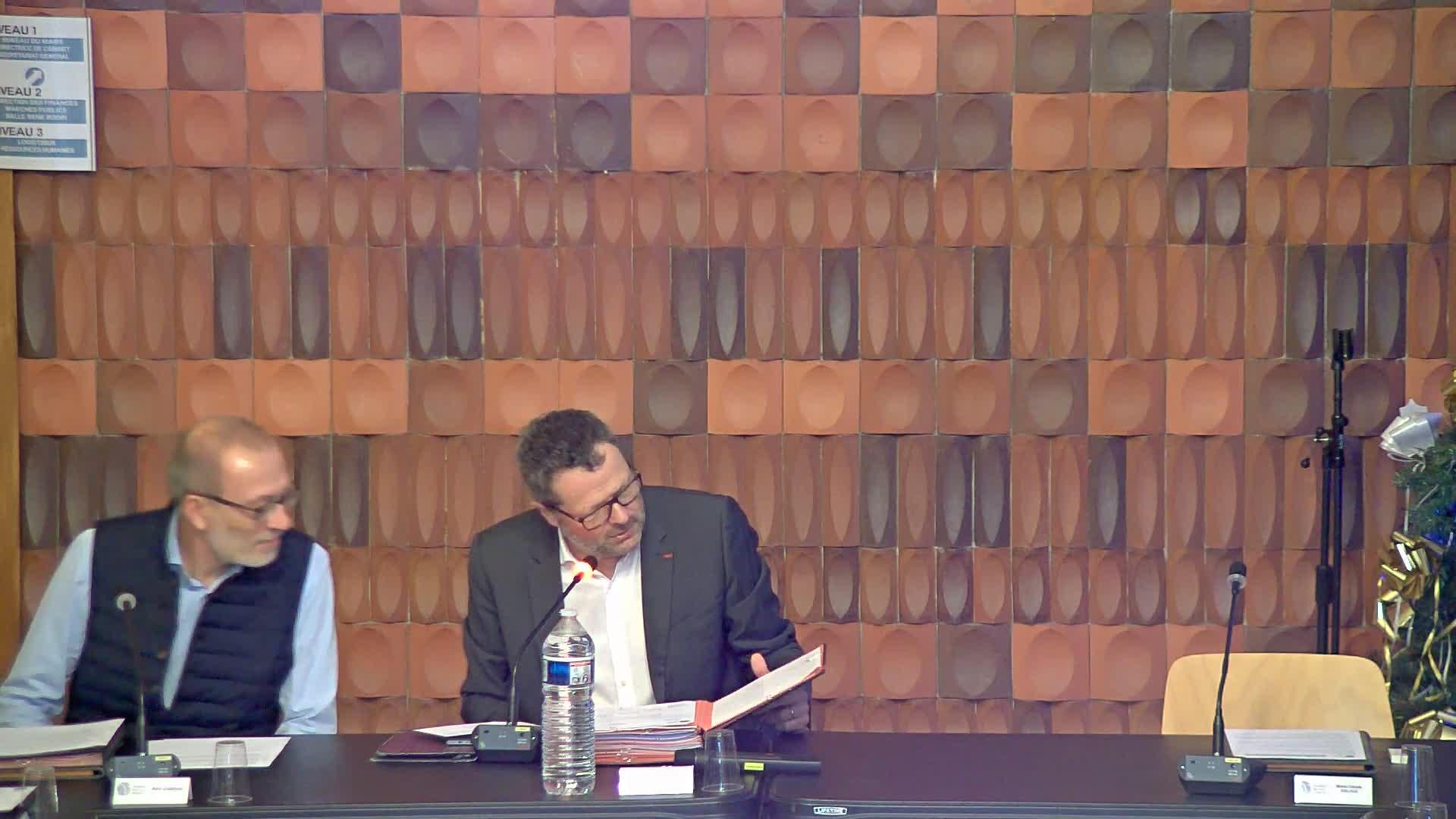 Conseil Municipal du Lundi 16 décembre 2019